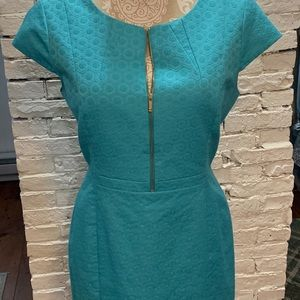 Turquoise 60s Inspired Dress